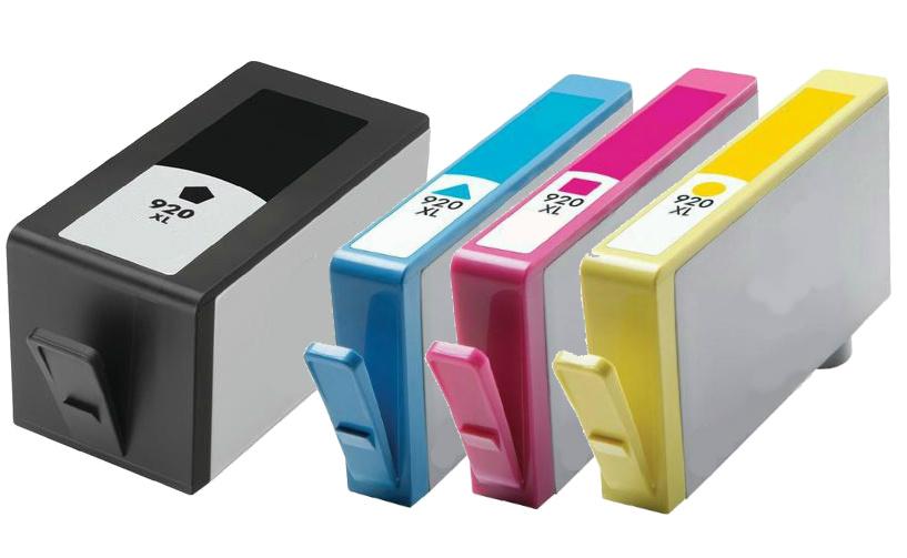 4 pk hp 920xl combo set ink cartridges for 6500 7000 ebay. Black Bedroom Furniture Sets. Home Design Ideas